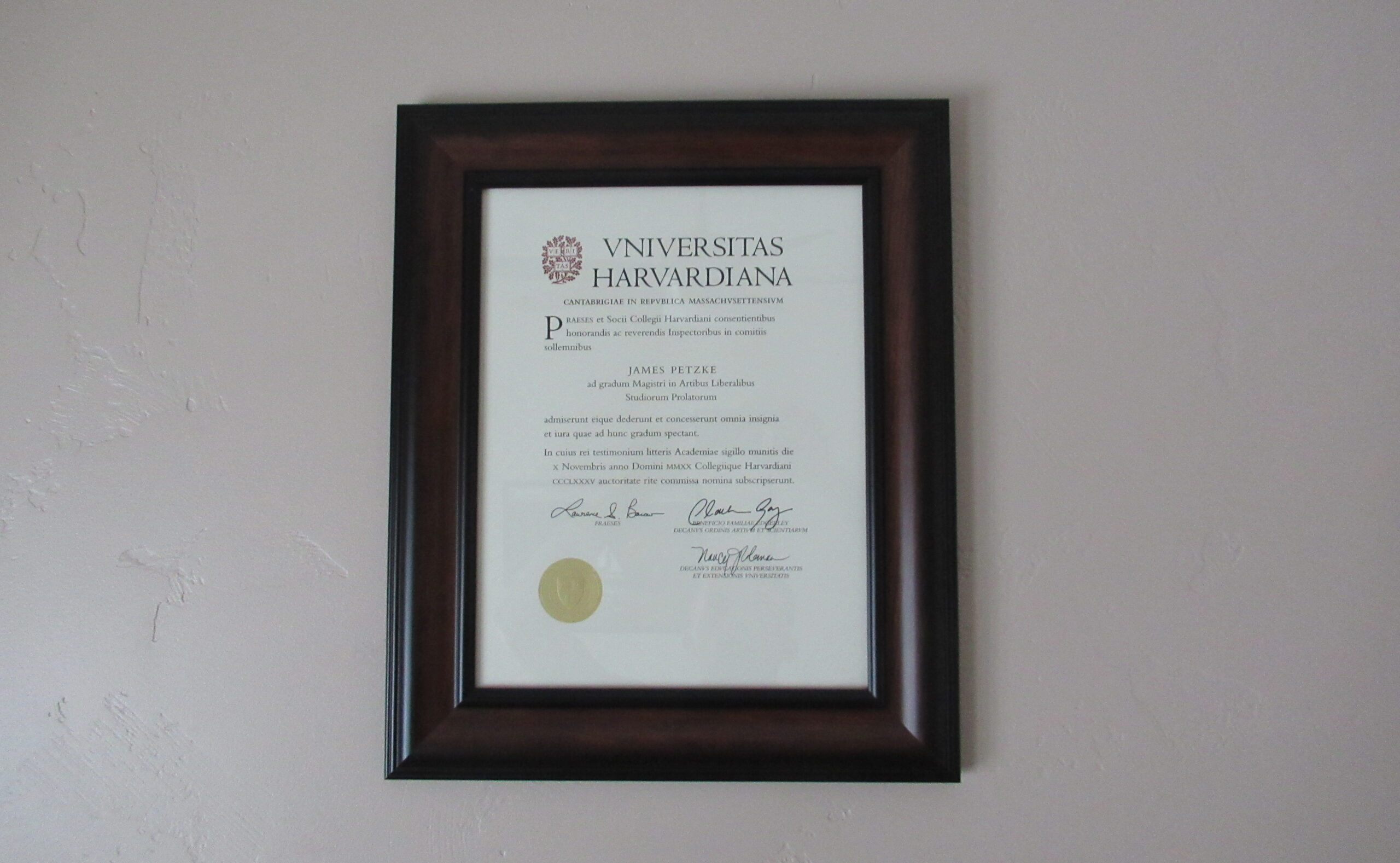 I Got a Master's Degree From the Harvard Extension School